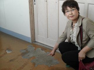 廊下の床はがれ.JPG