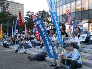 戦争立法反対!憲法改悪反対!9.12北九州集会