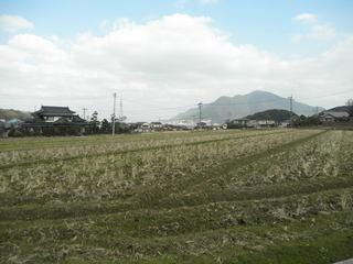 隠蓑の田園風景