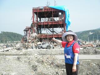 南三陸町の防災センター