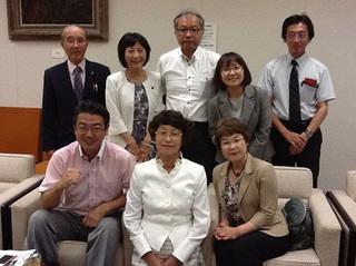 武藤明美佐賀県議、梅崎柳川市議とともに、6人の福岡県議予定候補